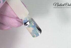 Дизайн ногтей акварель