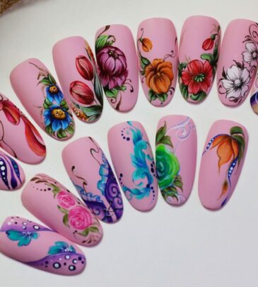 Роспись ногтей пошагово для начинающих