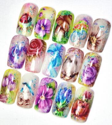 Рисунки на ногтях лаком